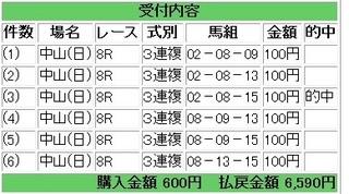 2011年6月19日中山8R6590円3連複.jpg