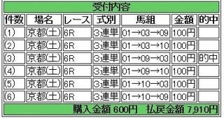 2013年10月12日京都6R7910円 keiba.jpg