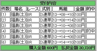 2013年11月16日福島8R30730円 keiba.jpg