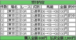 2013年11月17日東京10R2980円 keiba.jpg
