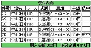 2013年12月1日中山11R6610円3連複 keiba.jpg