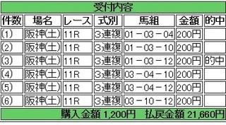 2013年12月21日ラジオNIKKEI杯2歳10830円3連複 keiba.jpg