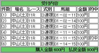 2013年12月7日中山11R900円3連複 keiba.png
