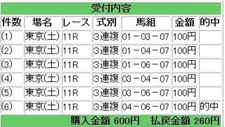 2013年1月26日東京11R260円3連複.jpg