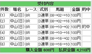 2013年1月6日中山8R4210円.jpg