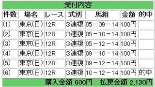 2013年6月23日東京12R2130円3連複.jpg