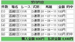 2013年7月7日函館11R4440円3連複.jpg