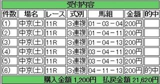 2013年金鯱賞211月30日10810円3連複 keiba.jpg