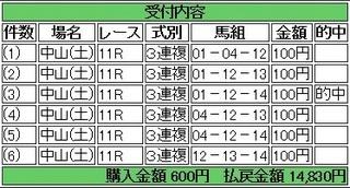2014年1月18日中山11R14380円3連複 keiba.jpg