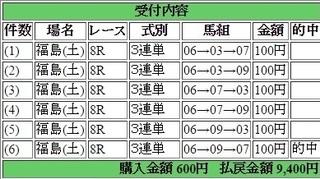 2016年7月23日福島8R9400円3連単 keiba.jpg