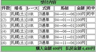 2016年7月30日札幌10R6480円 keiba.jpg