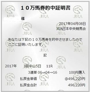 2017年4月8日ニュージーランドT496220円3連単万馬券証明会員様より.jpg