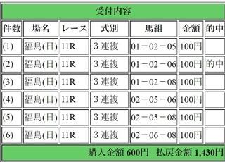 2018年11月11日福島記念1430円3連複.jpg
